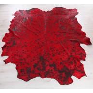 Tappeto Cavallino Acidato Rosso/Nero